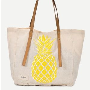 Huge Canvas Pineapple Tote